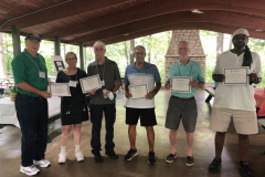 Several members received years of service recognition