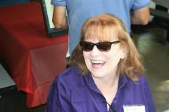 Vickie Ciotti greets everyone at check-in.