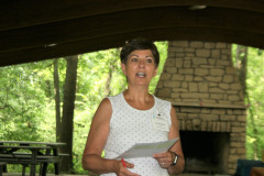 Christie Brown thanks volunteers and gives an agency update